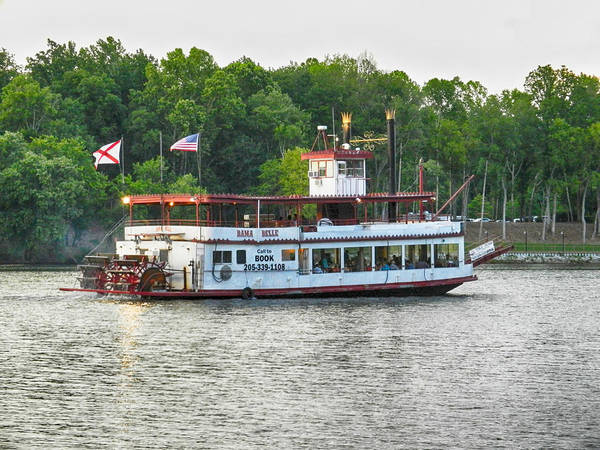 Bama Belle Poster featuring the photograph Bama Belle On The Black Warrior River by Ben Shields