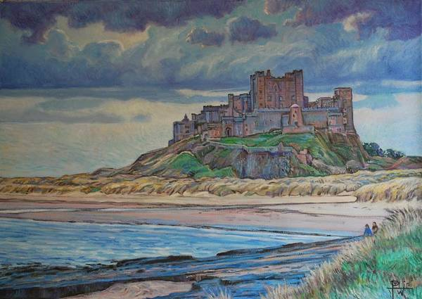 Bamburgh Poster featuring the painting Bamburgh by Henry Potwin