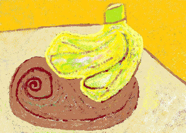 Bananas Poster featuring the painting Bananas From Paphos 3 by Anita Dale Livaditis
