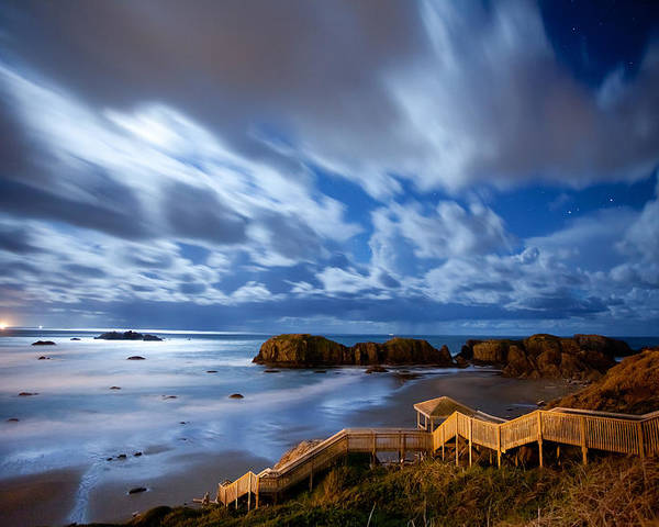 Bandon Poster featuring the photograph Bandon Nightlife by Darren White