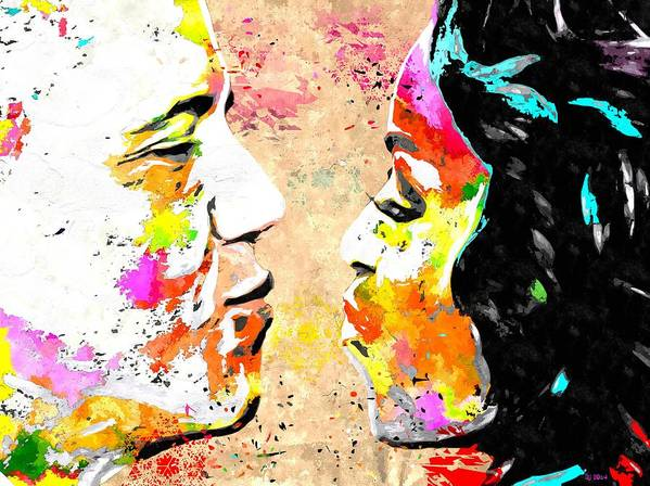 Barack And Michelle Poster featuring the painting Barack And Michelle by Daniel Janda