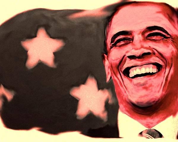 Barack Obama Poster featuring the painting Barak Obama by Parvez Sayed