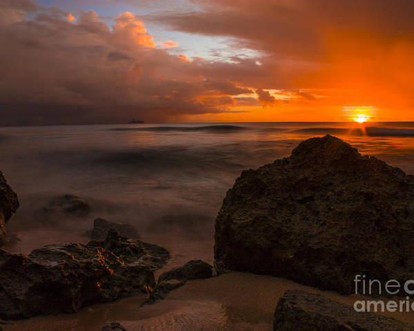Barbados Poster featuring the photograph Barbados Sunset by Matt Trimble