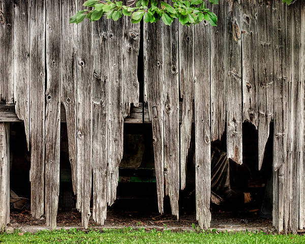Barns Poster featuring the photograph Barn Boards - Rustic Decor by Gary Heller