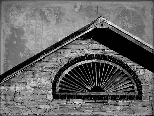 Joseph Skompski Poster featuring the photograph Barn Detail - Black And White by Joseph Skompski