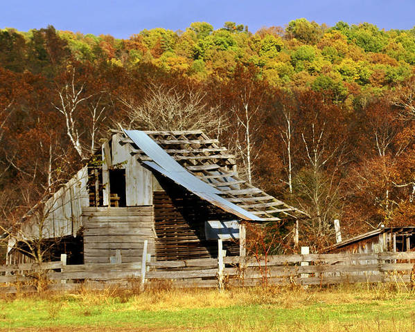 Barn Poster featuring the photograph Barn In Fall by Marty Koch