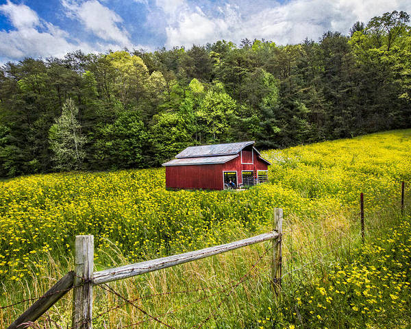 Appalachia Poster featuring the photograph Barn In The Meadow by Debra and Dave Vanderlaan