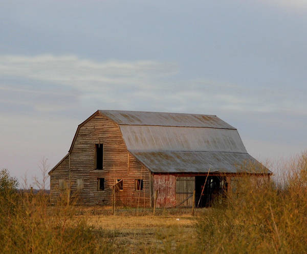 Barn Poster featuring the photograph Barn On The Prairie by Kay Sparks