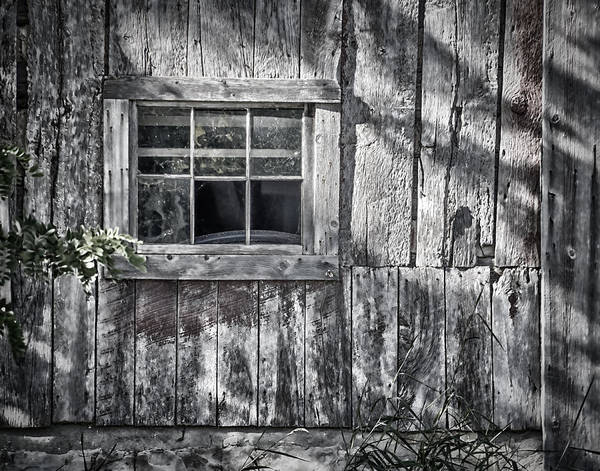 Abandoned Poster featuring the photograph Barn Window by Joan Carroll