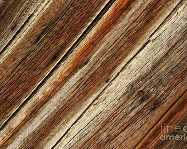 Barn Poster featuring the photograph Barn Wood Detail by Vivian Christopher
