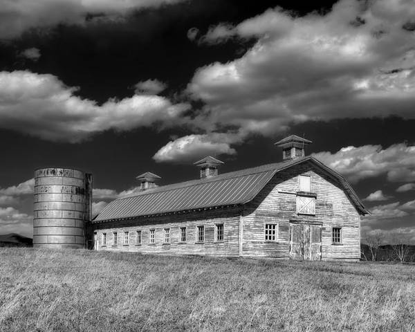 Farm Poster featuring the photograph Barns Are Beautiful II Bw by Steve Hurt