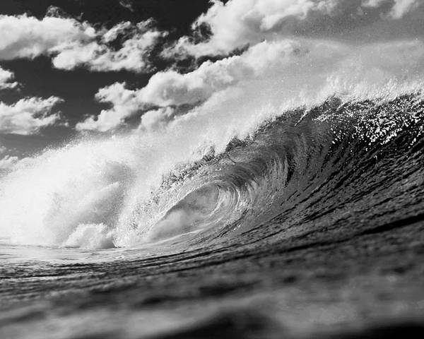 Ocean Energy Poster featuring the photograph Barrel Clouds by Sean Davey