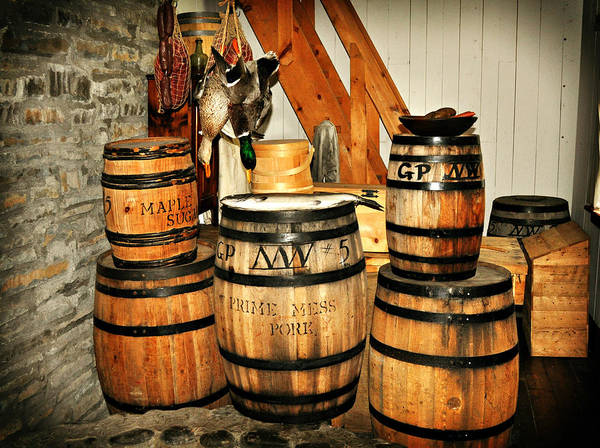 Rustic Poster featuring the photograph Barrels by Marty Koch