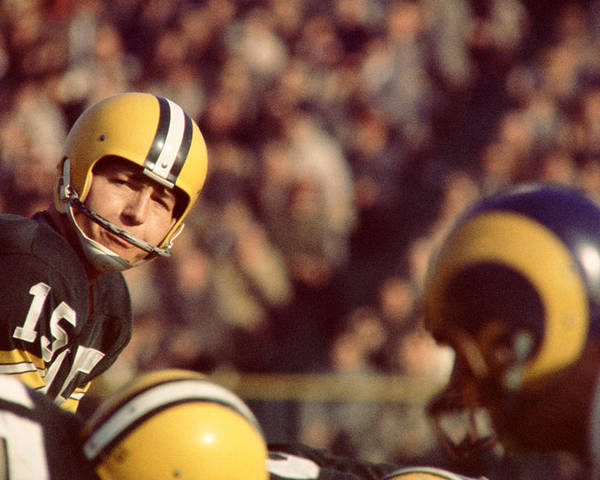 Marvin Newman Poster featuring the photograph Bart Starr Looks by Retro Images Archive