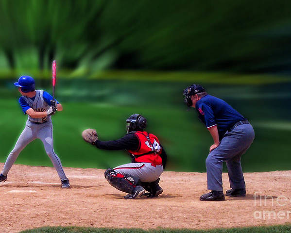 Sports Poster featuring the photograph Baseball Batter Up by Thomas Woolworth