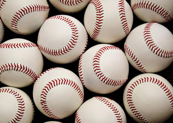 Baseball Poster featuring the photograph Baseballs by Ricky Barnard