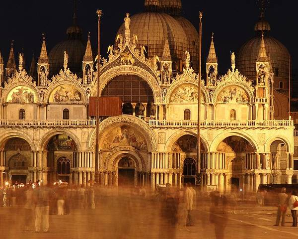 Venice Poster featuring the photograph Basilica Di San Marco by George Buxbaum