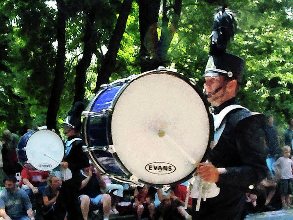 Parade Poster featuring the photograph Bass Drums On Parade by Susan Savad