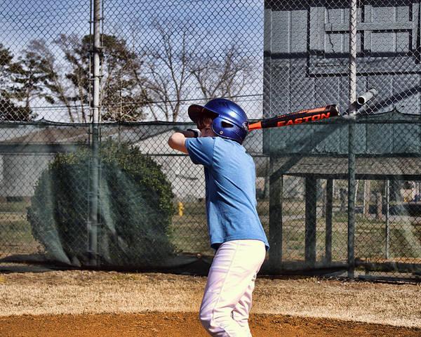 Baseball Poster featuring the photograph Batter Up by Carolyn Ricks