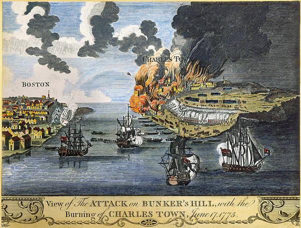 1775 Poster featuring the photograph Battle Of Bunker Hill, 1775 by Granger