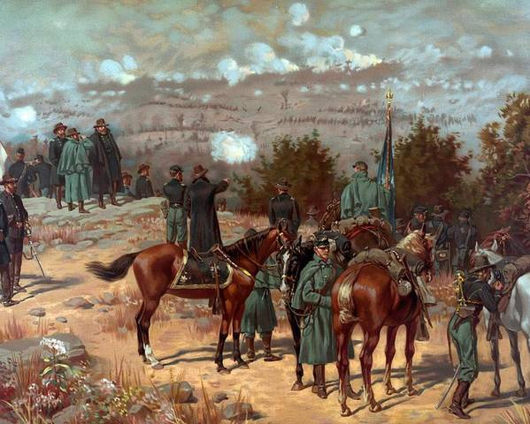 Battle Of Chattanooga Poster featuring the painting Battle Of Chattanooga by American School
