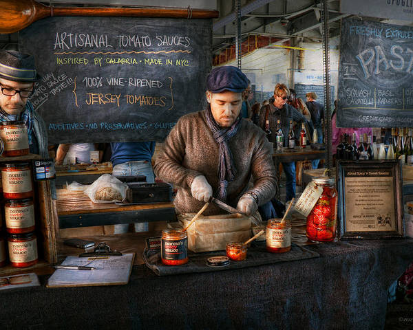 Amsterdam Market Poster featuring the photograph Bazaar - We Sell Tomato Sauce by Mike Savad