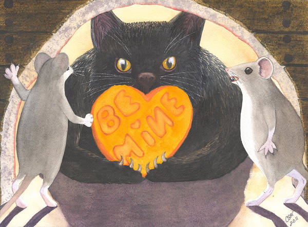 Cat Poster featuring the painting Be Mine by Catherine G McElroy