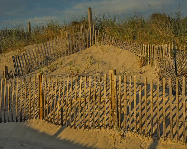 Cape Cod Poster featuring the photograph Beach Fence by Susan Candelario