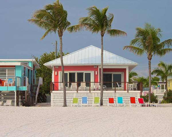 Beach Poster featuring the photograph Beach House by Jerry Patterson