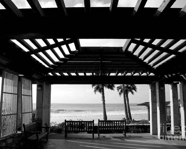 Architecture Poster featuring the photograph Beach In Del Mar California by Julia Hiebaum