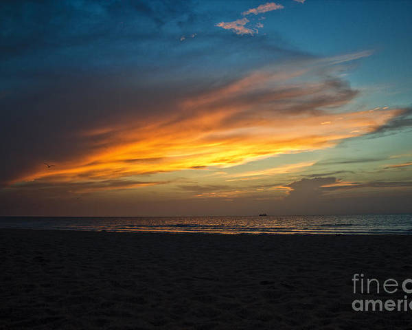 Sunrise Poster featuring the photograph Beach Sunrise by Brahimou NG