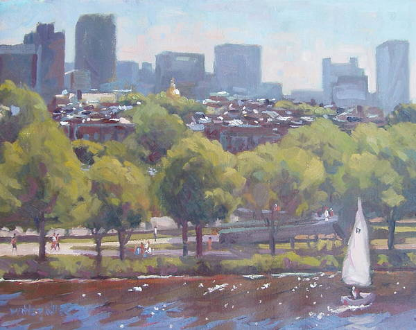 Boston Poster featuring the painting Beacon Hill by Dianne Panarelli Miller
