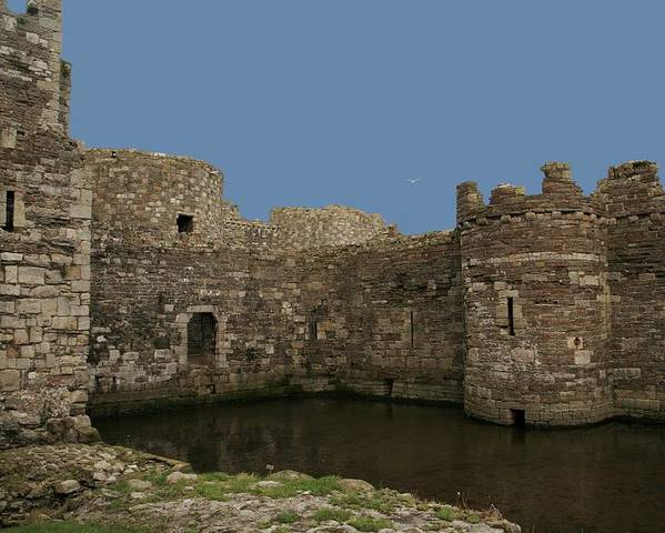 Castles Poster featuring the photograph Beamaris Castle by Christopher Rowlands