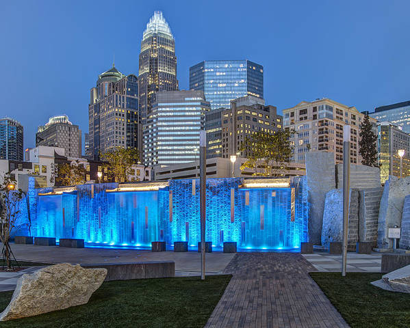 Romare Bearden Park Poster featuring the photograph Bearden Blue by Chris Austin