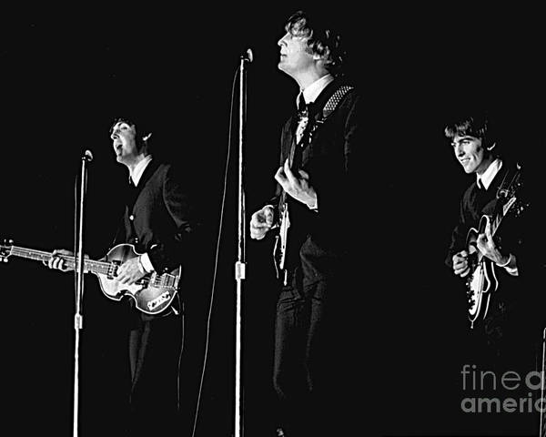 Beatles Poster featuring the photograph Beatles In Concert, 1964 by Larry Mulvehill