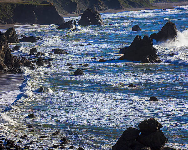 Beautiful California Poster featuring the photograph Beautiful California Coast by Garry Gay