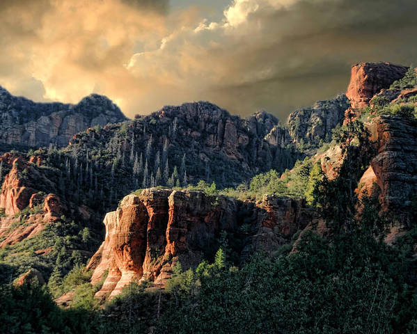 Sunrise Poster featuring the photograph Beautiful Sedona by Carolyn Fletcher