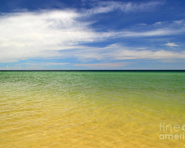 Landscape Poster featuring the photograph Beautiful St George Island Water by Holden Parker