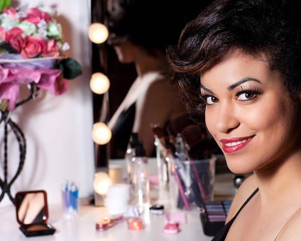 Makeup Poster featuring the photograph Beauty Portrait by Artur Bogacki