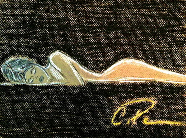 Rest Poster featuring the drawing Beauty Sleeps by Chrissy Pena