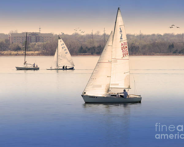 Sailing Poster featuring the photograph Becalmed by Betty LaRue