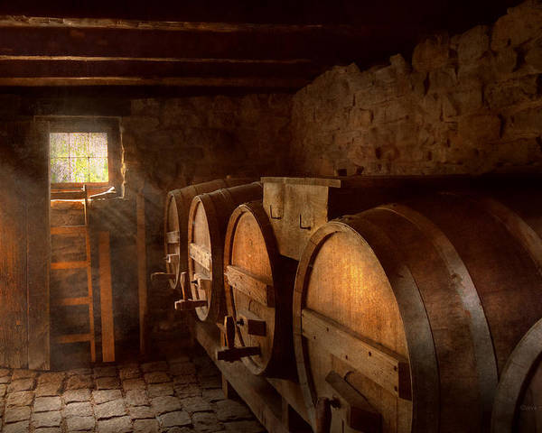 Wine Poster featuring the photograph Beer Maker - The Brewmasters Basement by Mike Savad