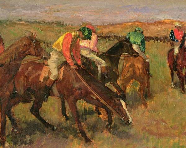 Before The Races Poster featuring the painting Before The Races by Edgar Degas