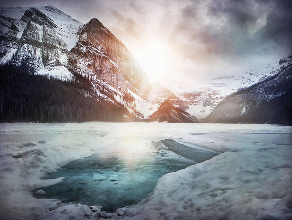 Landcapes Poster featuring the photograph Beginning To Thaw by Kym Clarke