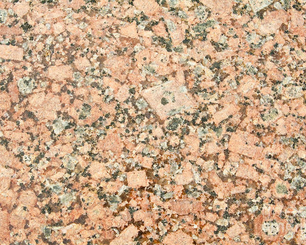 Grained Poster featuring the photograph Beige Granite by Jim Pruitt