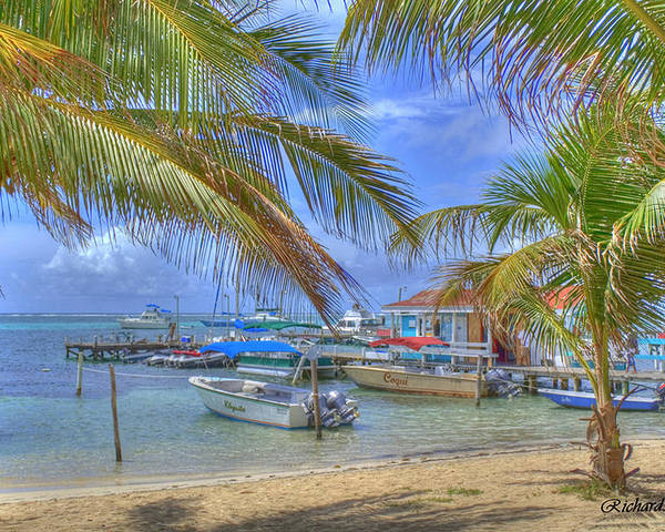 Belize Poster featuring the photograph Belize Hdr by Debby Richards