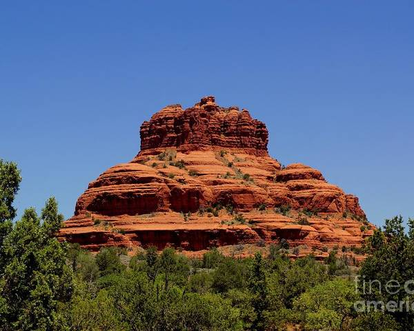 Sedona Poster featuring the photograph Bell Rock 1 by Trish H