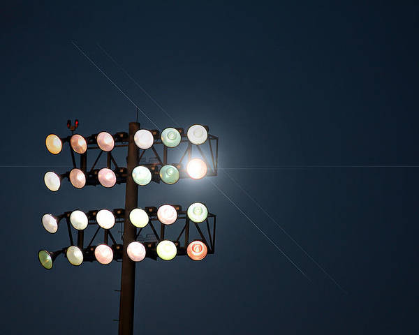 Lights Poster featuring the photograph Beneath Friday Night Lights by Trish Mistric