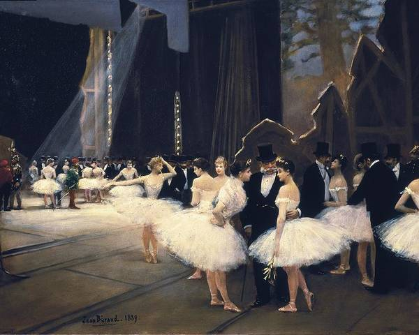 Horizontal Poster featuring the photograph Beraud, Jean 1849-1935. Backstage by Everett