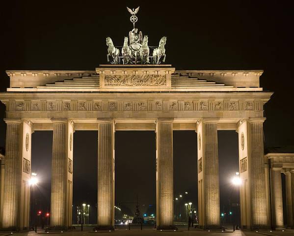 Berlin Poster featuring the photograph Berlin Brandenburg Gate by Frank Tschakert